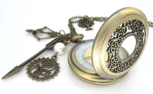 Hunger Games Pocket Watch, Antique Brass Mockingjay, Katniss Arrow, Hollow Phoenix and Hanging Tree, prop replica